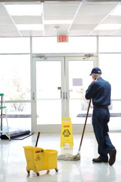 Floor cleaning by J&J Commercial Cleaning LLC